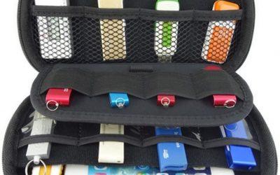 ZXUY Big Capability USB Flash Drives Bag, Black